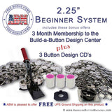 "2.25"" Button Maker Kit - American Button Machines"