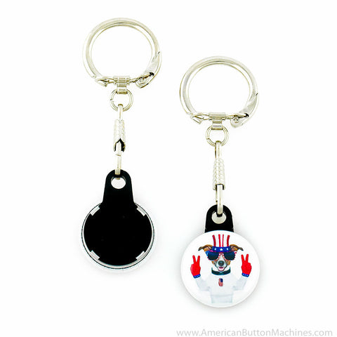 "1"" Versa-Back Snap Hook Keychain Set"