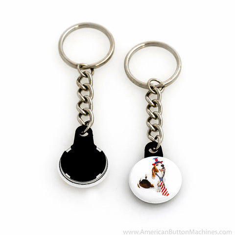 "1"" Versa-Back Chain Keychain Set - American Button Machines"