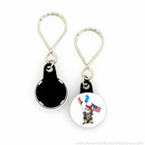 "1"" Versa-Back Loop Keyring Set - American Button Machines"