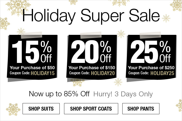 Holiday Super Sale - Extra 25% Off $250 (Use Code HOLIDAY25)