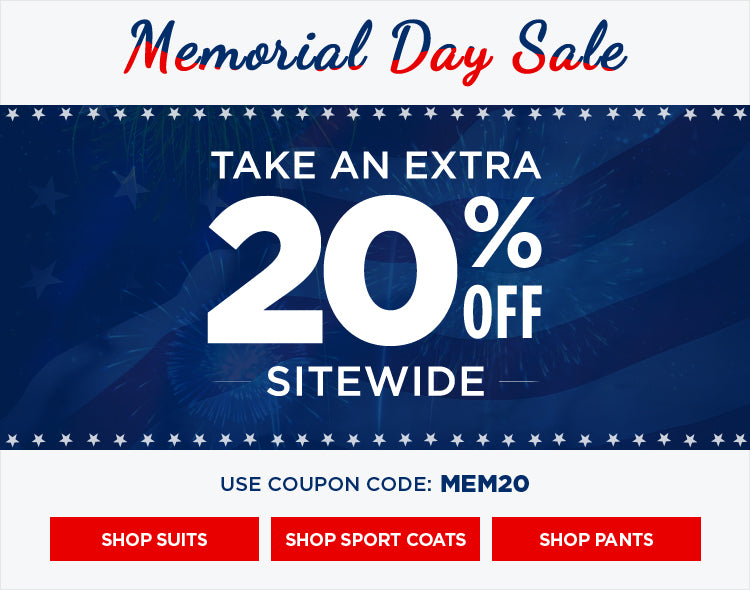 Memorial Day Sale - Extra 20% OFF