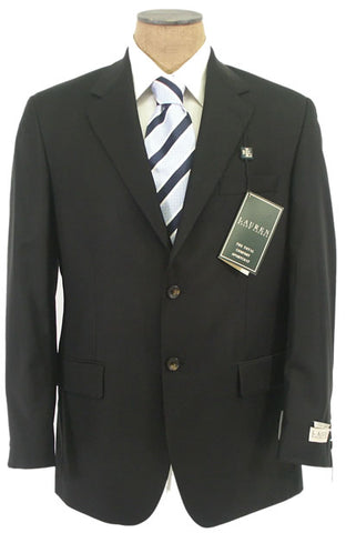 Ralph Lauren Mens Black Solid Classic Fit Wool Sport Coat Jacket