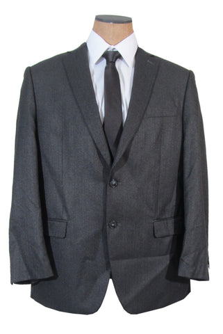 Calvin Klein Mens 2 Button Charcoal Gray Slim Fit Sport Coat Jacket