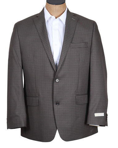 Michael Kors Mens Brown Olive Check Sport Coat Jacket