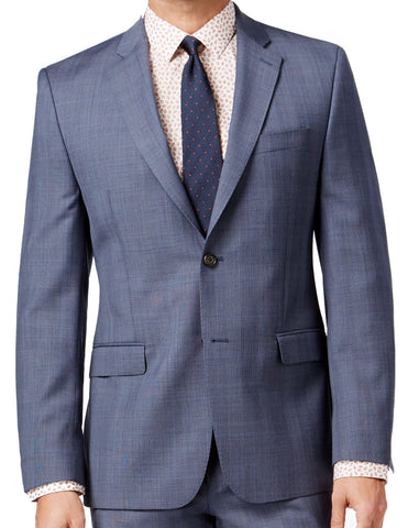 Ralph Lauren Mens Blue Glen Plaid Slim Fit Wool Suit