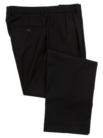 Ralph Lauren Mens Double Pleated Navy Blue Wool Dress Pants