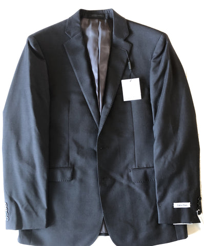 Calvin Klein Mens Charcoal Gray Extreme Slim Fit Wool Suit