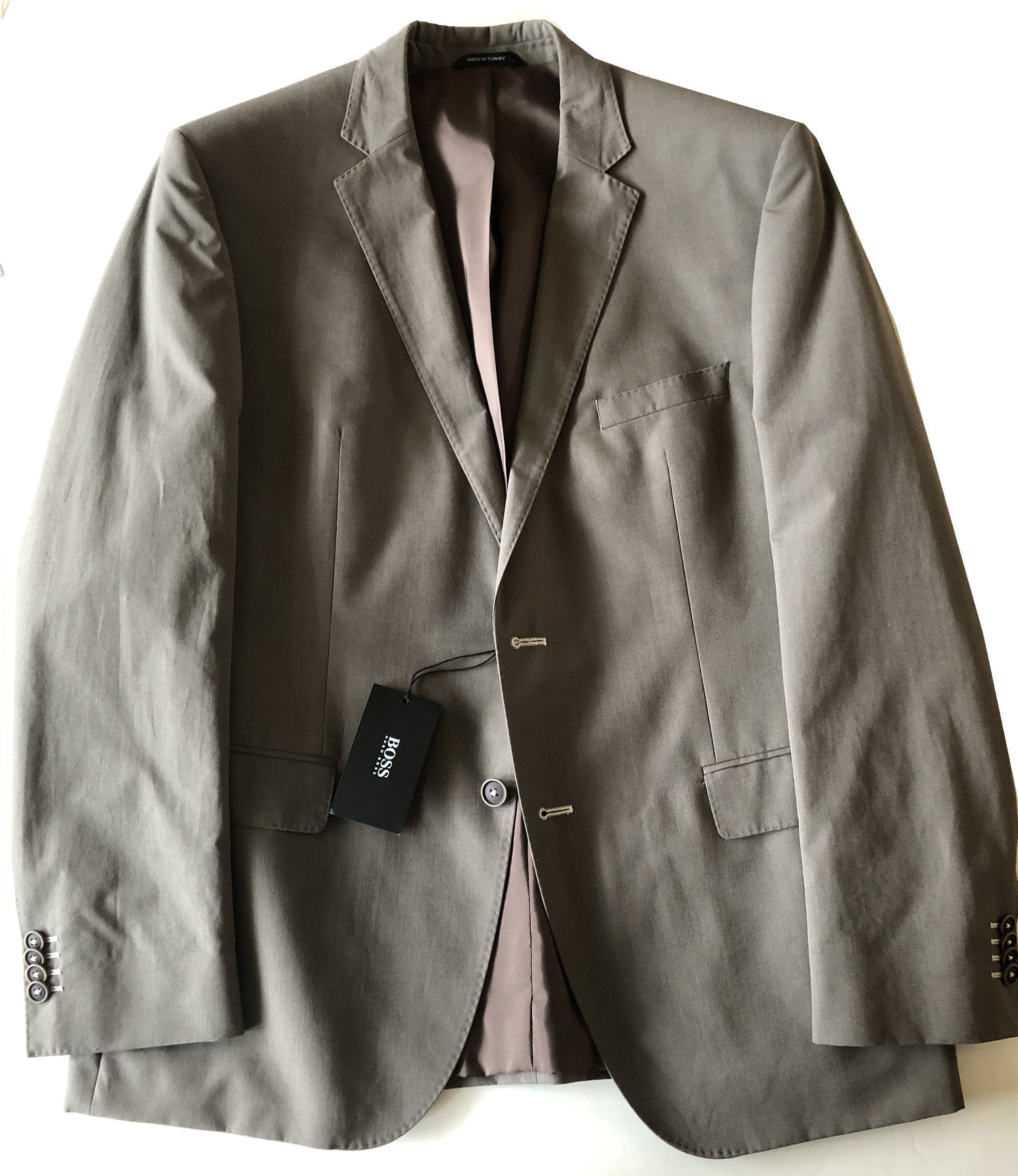 efddc3c37 Hugo Boss Mens Solid Olive The Keys1/Shaft Cotton Suit. Tap to expand