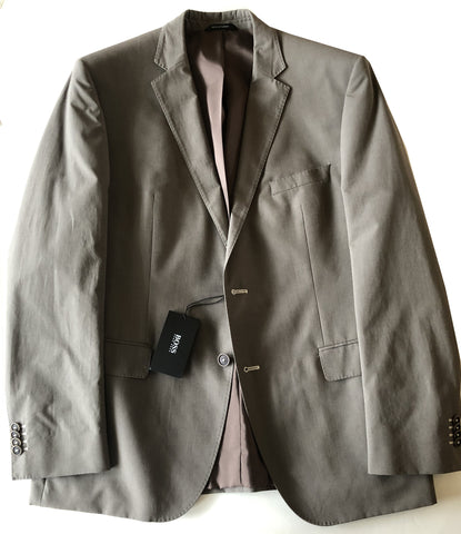 Hugo Boss Mens Solid Olive The Keys1/Shaft Cotton Suit