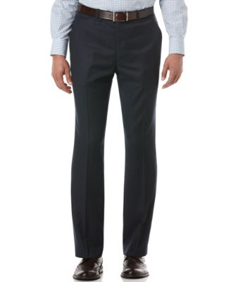 Perry Ellis Travel Luxe Slim Fit Men Dress Pant Midnight Blue 30x32