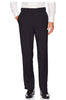 Haggar Mens Stria Classic Fit Solid Navy Flat Front Dress Pants 32x30