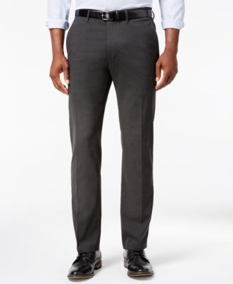 Kenneth Cole Reaction Mens Stretch Slim Fit Charcoal Dress Pants 33x32