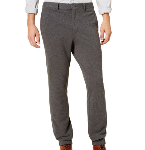 Calvin Klein Mens Slim Fit Knit Gray Jogger Pants 34x29