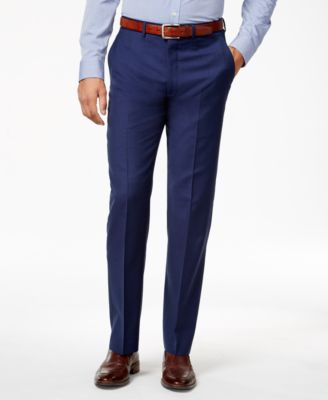 Ryan Seacrest Distinction Modern Fit Dress Pants Solid Blue 38x30