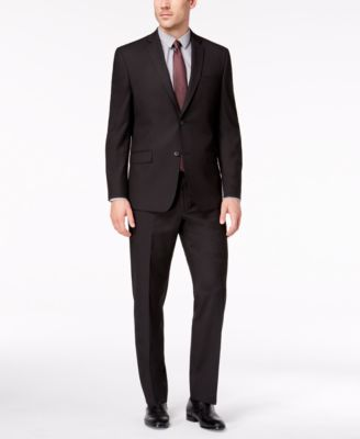 Marc New York Mens Classic Fit Stretch Black Suit 40S 31Wx30L