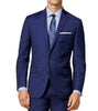 Ryan Seacrest Solid Modern Fit Jacket Mid Blue Wool Blazer 38S