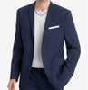 Bar III Mens Slim Fit Navy Stripe Seersucker Suit Jacket Blazer Blue 40S