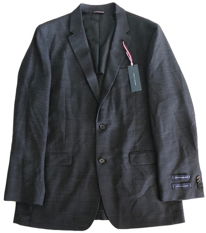 Tommy Hilfiger Mens Slim Fit Dark Gray Sport Coat Jacket 42L