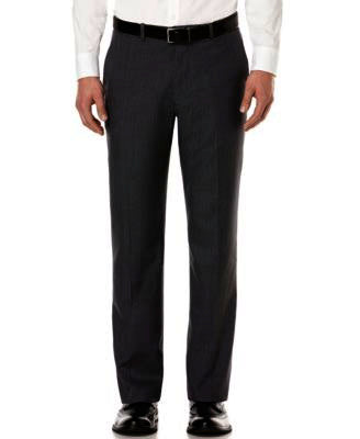 Mens Perry Ellis Black Solid Modern Fit Polyester Dress Pants 32X32