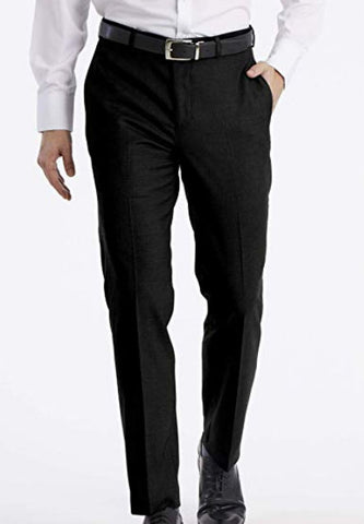 Mens Calvin Klein Black Solid Slim Fit Polyester Blend Dress Pants 36X32