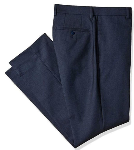 Mens Calvin Klein Navy Blue Solid Slim Fit Polyester Blend Dress Pants 32X30