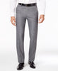 Mens Alfani Gray Solid Slim Fit Polyester Blend Dress Pants 30X30