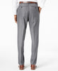 Mens Alfani Gray Solid Slim Fit Polyester Blend Dress Pants 36X32