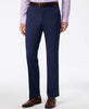 Mens Alfani Navy Blue Solid Slim Fit Polyester Blend Dress Pants 30X32