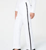 Mens Sean John White Solid Regular Fit Polyester Dress Pants 44X30