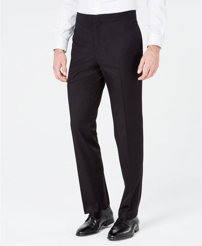 Mens Ryan Seacrest Black Solid Slim Fit Prom Tuxedo Dress Pants 34X32
