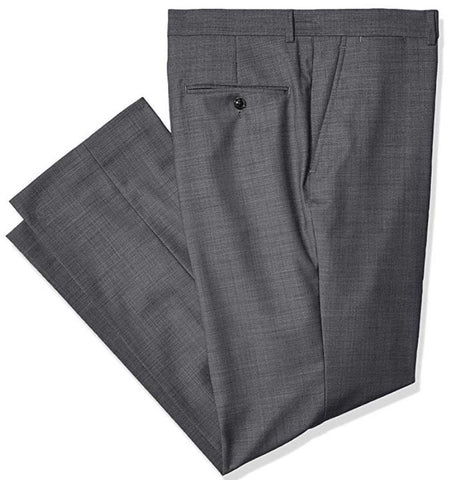 Mens Tommy Hilfiger Gray Solid Modern Fit Wool Blend Dress Pants 32X32