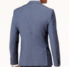 New Mens BAR III Blue Solid Slim Fit Wool Blend Sport Coat Jacket Blazer 40R