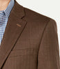 Mens Tommy Hilfiger Brown Herringbone Flex Fit Sport Coat Jacket Blazer 42R
