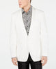 Mens Tallia Orange White Solid Modern Fit Sport Coat Jacket Blazer 42R