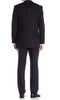 Mens Perry Ellis Black Texture Slim Fit 2 Button Flat Front Suit 46L