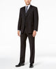 Mens Tommy Hilfiger Black Solid Flex Fit 3 Piece 2 Button Flat Front Suit 46R