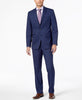 Mens Van Heusen Navy Blue Solid Slim Fit 2 Button Flat Front Suit 38R