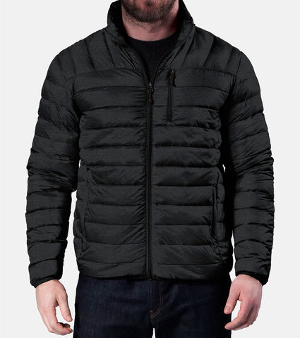Hawke Co. Outfitter Mens Quilted Packable Down Jacket Black Medium