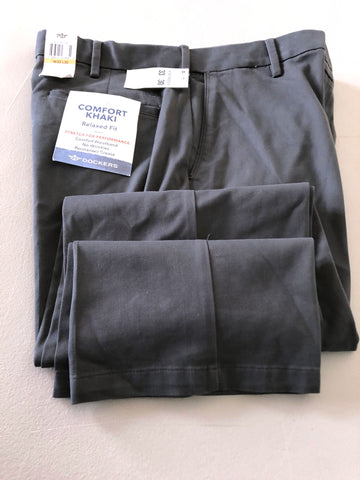 Dockers $58 New Men's Comfort Relaxed Fit Khaki Stretch Pants 33x30