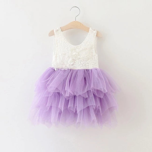 Lace Tutu Layered Dress - Lavender - Ready To Ship - Katy's Princess Boutique