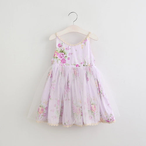 Floral Tutu Dress - Lavender-  Ready To Ship - Katy's Princess Boutique