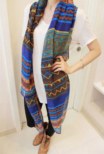 Katy Scarf - Blue - Katy's Princess Boutique