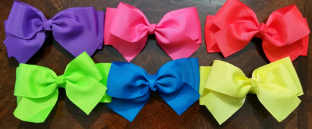 "5"" Hair Bows On Headbands- 20 Different Colors - Ready To Ship"