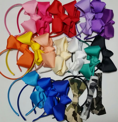 "5"" Hair Bows- Set Of 6 - Ready To Ship"