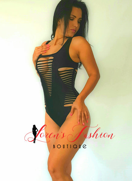 DAKOTA One Piece Swimsuit- Black Swimwear- Loren's Fashion Boutique