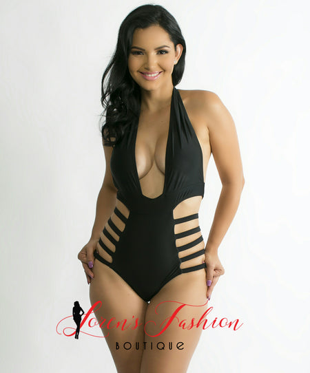 VANESSA Blue Colorful Design Monokini