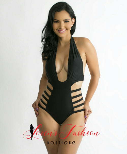 LOREN Black Swimsuit - Katy's Princess Boutique