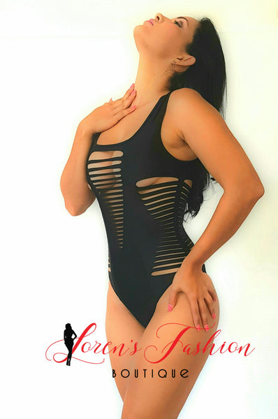 DAKOTA One Piece Swimsuit- Black - Katy's Princess Boutique