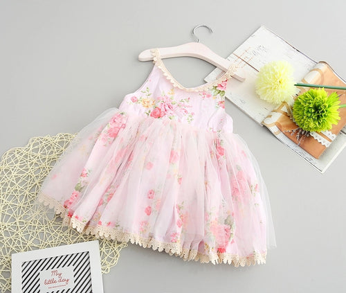 Floral Tutu Dress - Pink -  Ready To Ship - Katy's Princess Boutique